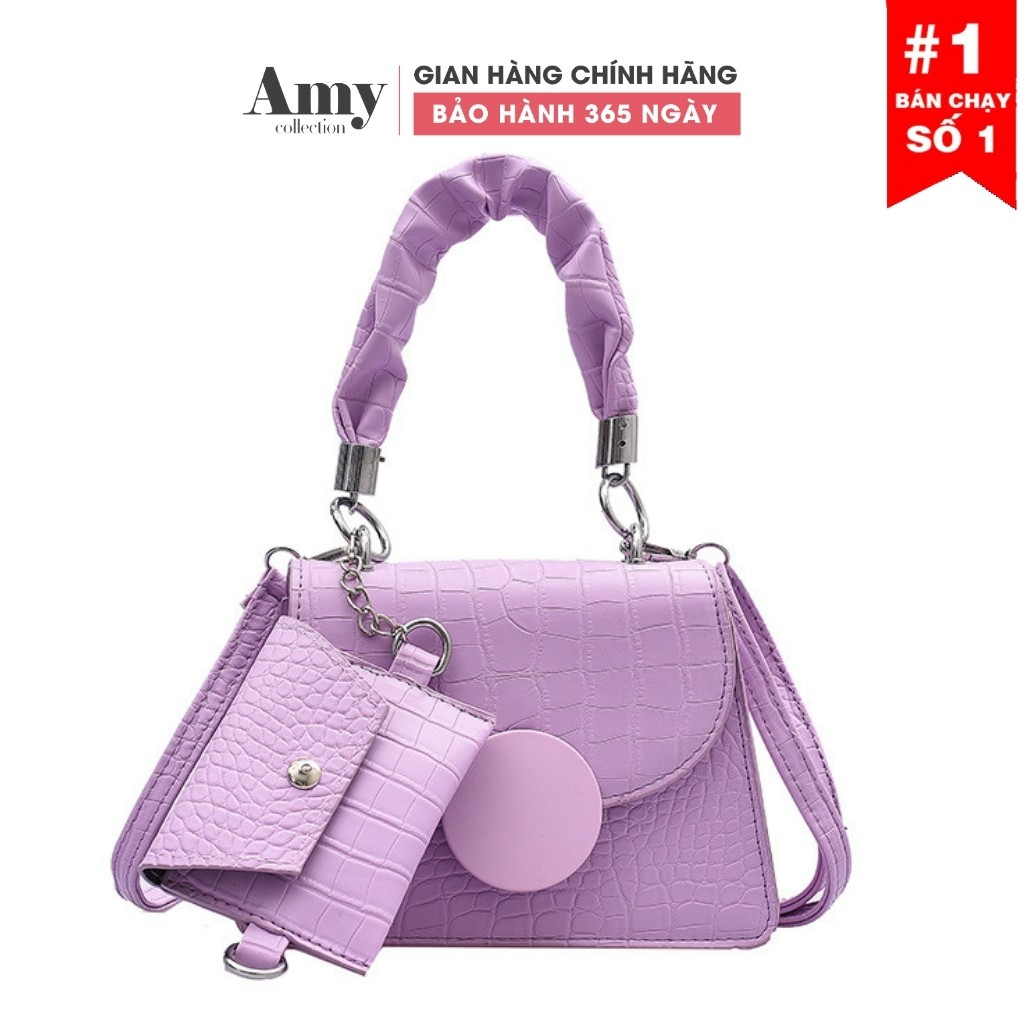 Túi đeo chéo nữ dáng trụ khóa nắp kèm ví nhỏ TX0192021 TX798