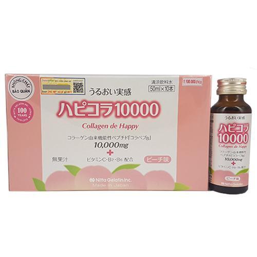 [MUA 1 TẶNG 1] Collagen de Happy 10000 mg - Collagen uống đẹp da Nhật Bản