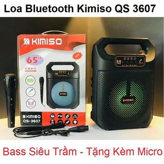 Loa Kéo Mini Nhỏ Gọn - Kết Nối Bluetooth - Âm Bass Hay - Tặng Kèm Micro Hát Karaoke - Kimiso QS 307 - Chính Hãng