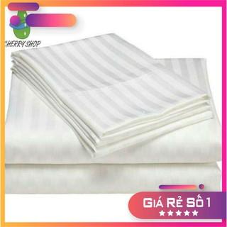 Vỏ gối, áo gối cotton trắng sọc mềm mại cho gia đình & khách sạn giá sỉ