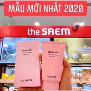 Kem Chống Nắng The Seam Eco Earth Power Pink Sun Cream SPF 50SPF