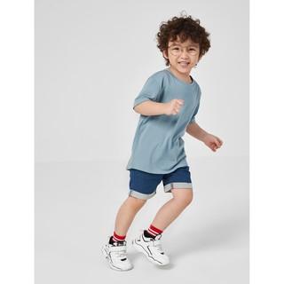 Áo phông bé trai cotton trơn đuôi tôm CANIFA 2TS20S019