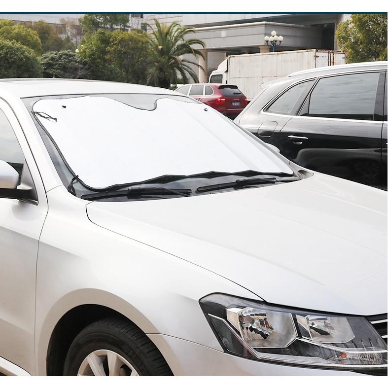 Tấm chắn kính chống nắng cho ô tô cực dày 145x70cm chất liệu nhôm nặng 370 gram