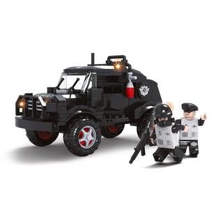 Lắp ráp Ausini xe cảnh sát đặc nhiệm 23512 Đồ chơi xếp hình lắp ráp mô hình