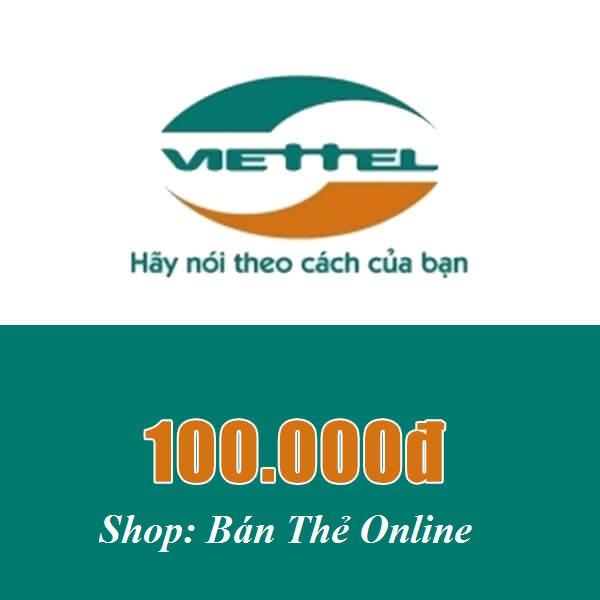 Mã thẻ Viettel 100k