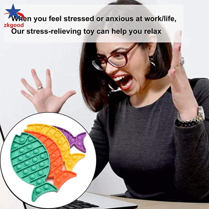 Zkg Đồ Chơi Bóp Tay Hình Con Cá Giúp Giảm Stress