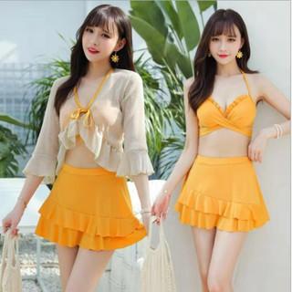 Đồ bơi nữ, Set bikini 3 chi tiết phong cách Hàn Quốc