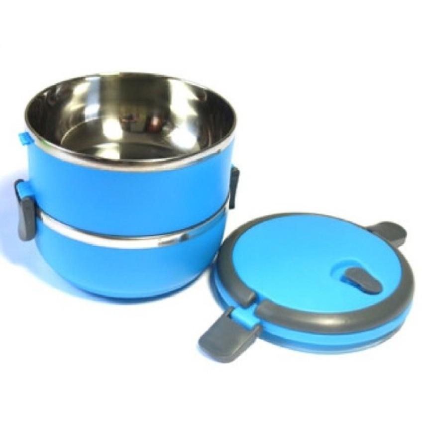 Hộp đựng cơm giữ nhiệt 2 tầng lồng Inox 1,4L (Xanh dương)