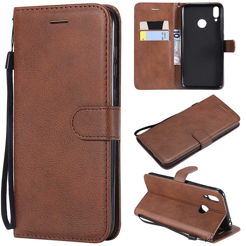 For Huawei honor 8C Flip Simple Leather Wallet Cell Case