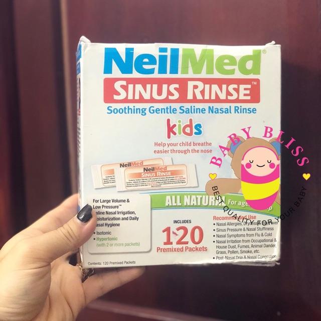 Set bình rửa mũi cho bé Neil Med