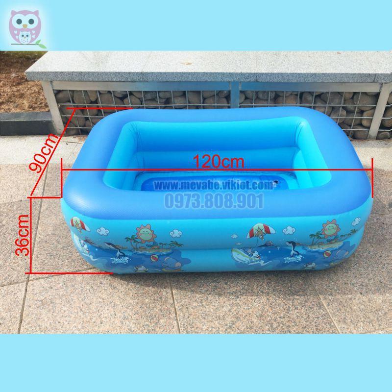 Combo bể bơi phao + Phao cổ Intime cho bé