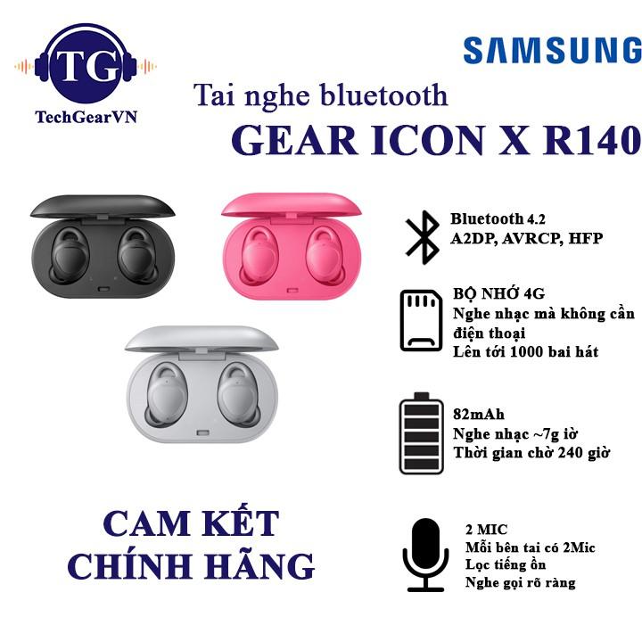 [Mã 267ELSALE hoàn 7% đơn 300K] Tai nghe Bluetooth Samsung Gear Icon X 2018 chính hãng