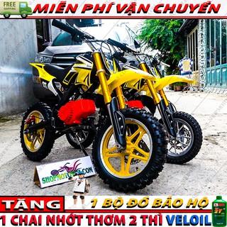 Xe cao cao mini 50cc ( Bánh Lớn ) | Mô tô ruồi trẻ em 49cc gắn máy động cơ chạy xăng pha nhớt