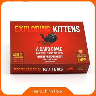 Thẻ bài [Mã TOYDEC giảm 10% tối đa 15K đơn từ 50K] Combo mèo nổ Exploding Kittens + 4 bản mở rộng ZQDRQG
