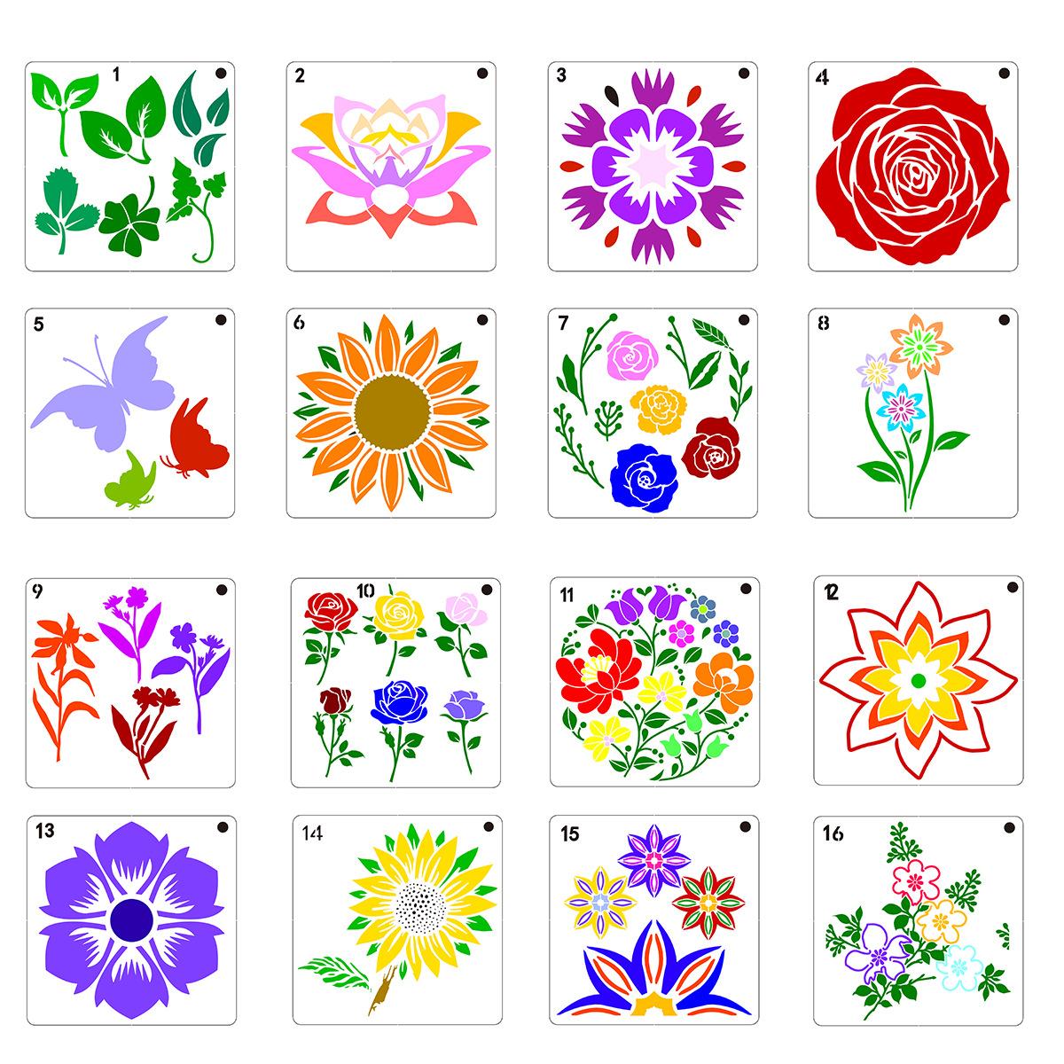 Khuôn Vẽ Hình Hoa Hướng Dương