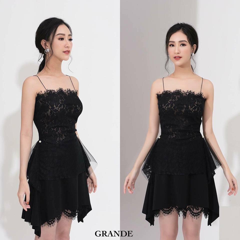 ẢNH THẬT - Đầm ren dự tiệc Grande dress - Hàng thiết kế