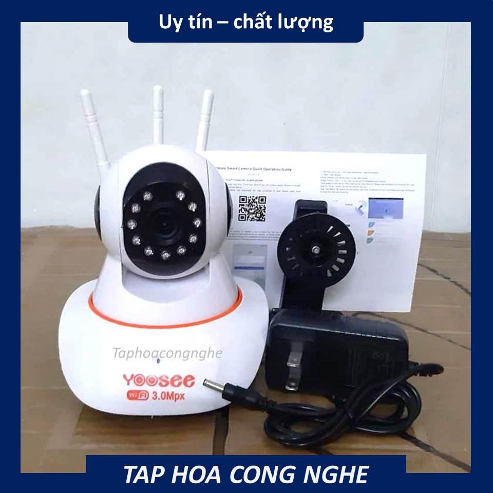 (BH 12 tháng) Camera wifi app YOOSEE 3 râu hình ảnh HD 1536P-3.0MP