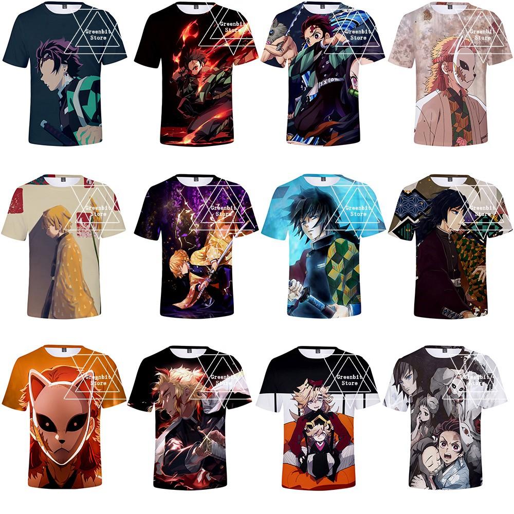 Fashion Men Boys Kid Adult Anime Demon Slayer: Kimetsu no Yaiba 3D Cosplay Short Sleeve T-Shirts Tops Tees