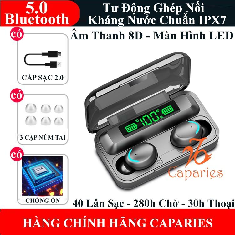 Tai Nghe Bluetooth Không Dây Giá Rẻ 5.0 CAPARIES V15-F95 LED