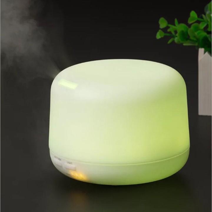 Máy phun sương tinh dầu tạo ẩm 300ml kèm 2 tinh dầu sả chanh và bạc hà 10ml