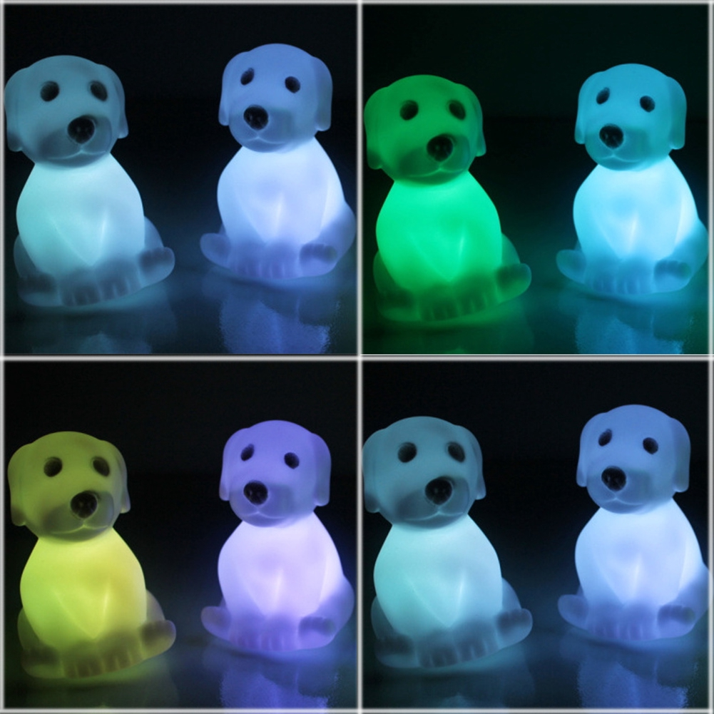 New Arrival Color Changing LED Xmas Mood Lamp Night Party Decoration Cute Dog Light