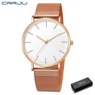 CRRJU Men Watches Fashion Casual Unisex Stainless steel 678G thumbnail