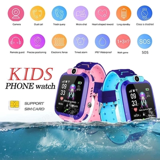 Q12 Jam Kids Smart Watch Children Waterproof Phone Watch Support SIM Card GPS SOS Dual Anti Lost Q12B