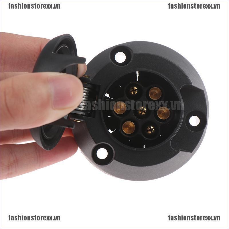 FASI 7 Pin European Trailer Socket 12V Towbar Towing Socket Car Plug Connector VN