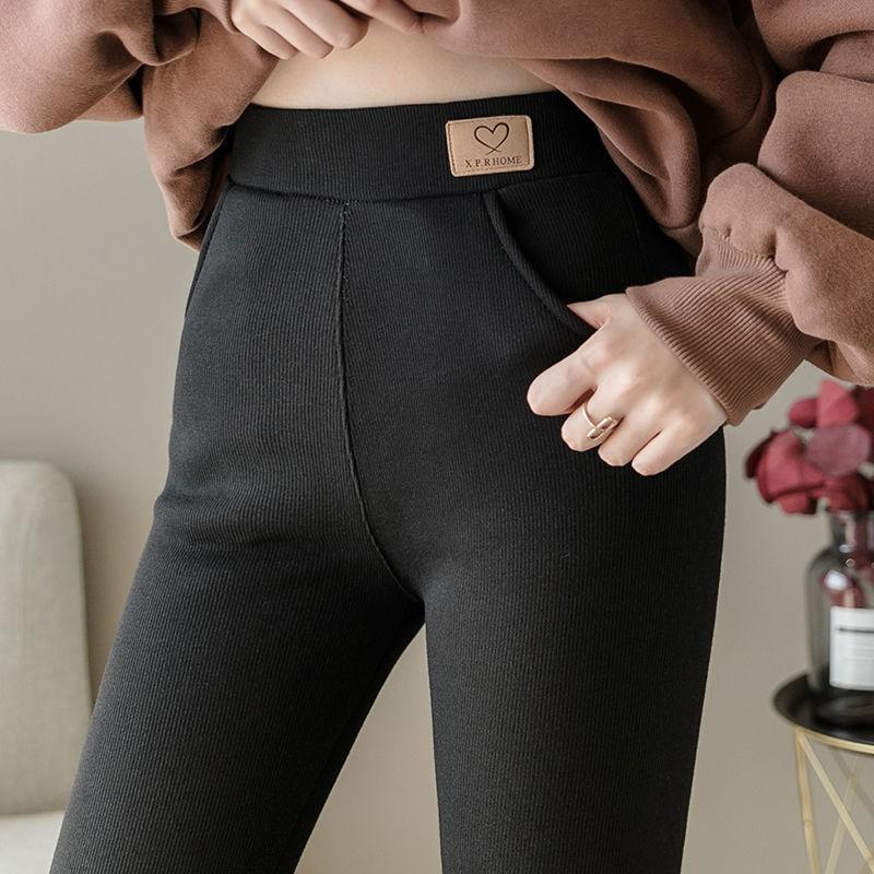 Quần Legging Cotton Lưng Cao Thời Trang Thu Đông Cho Nữ