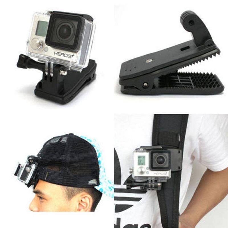 Outdoor Camera Rotatable Clip For GoPro Clamp Mount Go Pro 3 SJ4000/SJ5000/SJ6000/SJ7000 Action Accessories