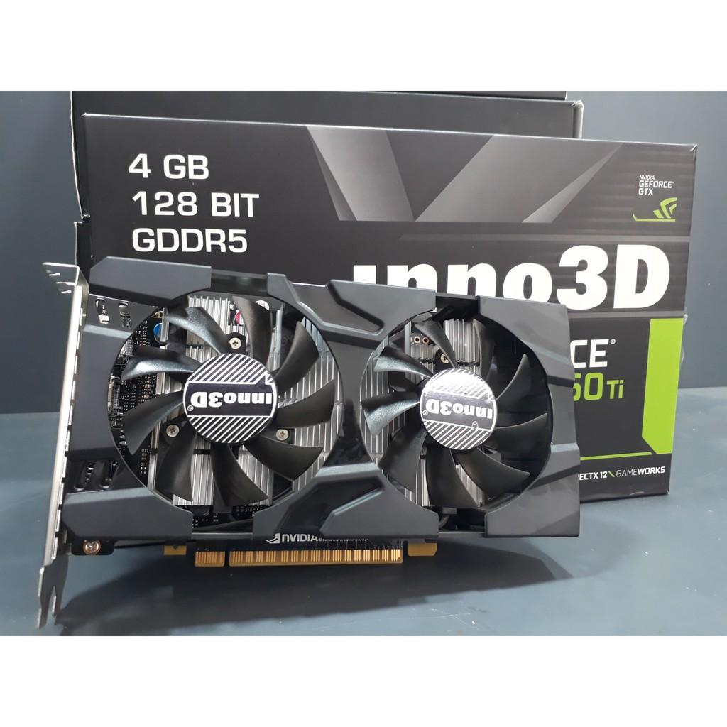Card đồ họa Inno3D GTX1050Ti Twin 4G (NVIDIA Geforce/ 4Gb/ DDR5/ 128Bit) FULL BOX - 3500760 , 1183639646 , 322_1183639646 , 2990000 , Card-do-hoa-Inno3D-GTX1050Ti-Twin-4G-NVIDIA-Geforce-4Gb-DDR5-128Bit-FULL-BOX-322_1183639646 , shopee.vn , Card đồ họa Inno3D GTX1050Ti Twin 4G (NVIDIA Geforce/ 4Gb/ DDR5/ 128Bit) FULL BOX