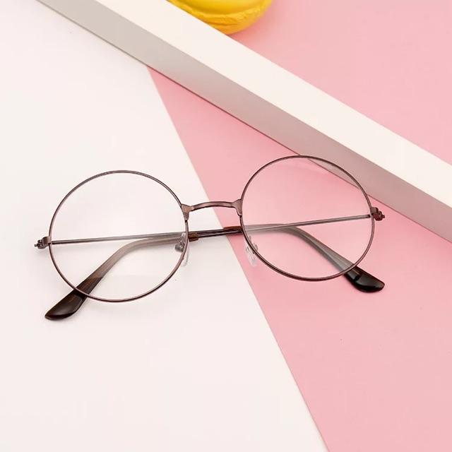 Gọng kính unisex Nobita TRÒN 0 dộ giả cận thời trang