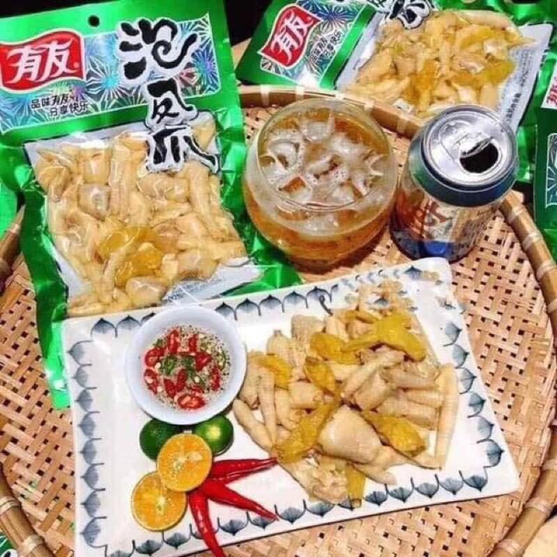 Chân gà cay yuyu 🍺 đồ ăn vặt Trung Quốc