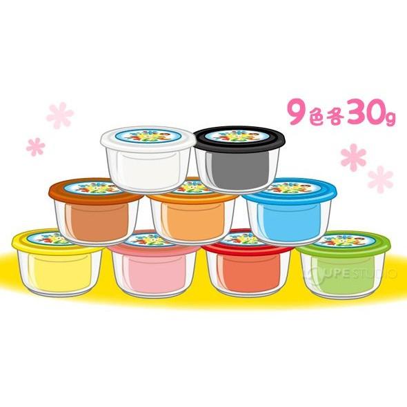 Bộ 9 hộp đất nặn màu sắc bằng bột gạo GINCHO (mẫu 1)