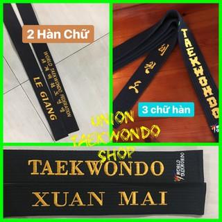 BEST SELLER Miễn Phí Thêu Tên Đai đen Taekwondo Vovinam Karate UnionTaekwondoSHOP Ngang 4.5 cm thumbnail