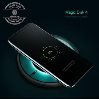 [Chính hãng] Sạc nhanh không dây Nillkin chuẩn Qi – Đế tròn có đèn Magic Disk 4 Fast Wireless Charger