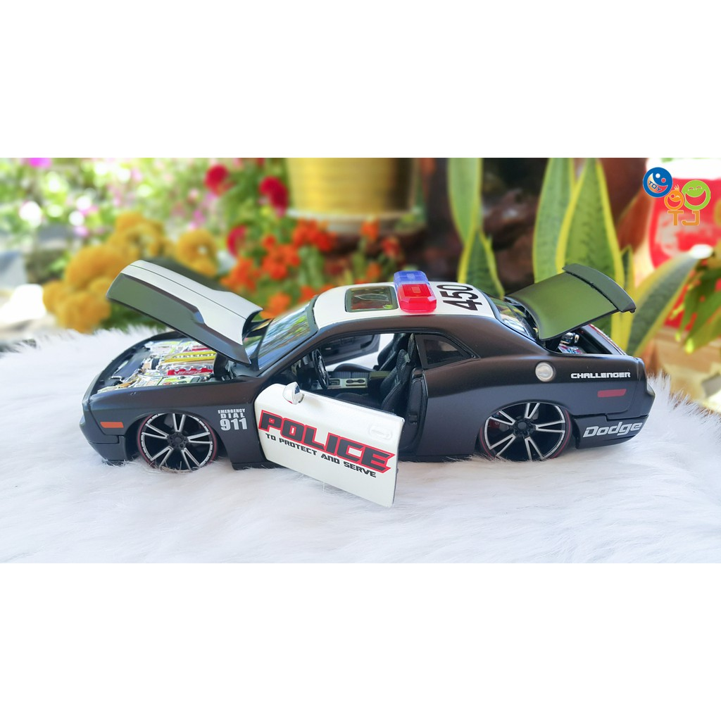 Xe Mô Hình Dodge Challenger Police 1:24 Maisto