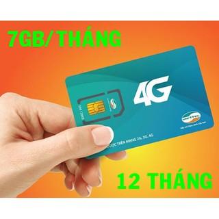 Sim 4G Viettel trọn gói 1 năm 7GB/Tháng D900, Shop bán các loại sim 3G, 4G các loại giá rẻ