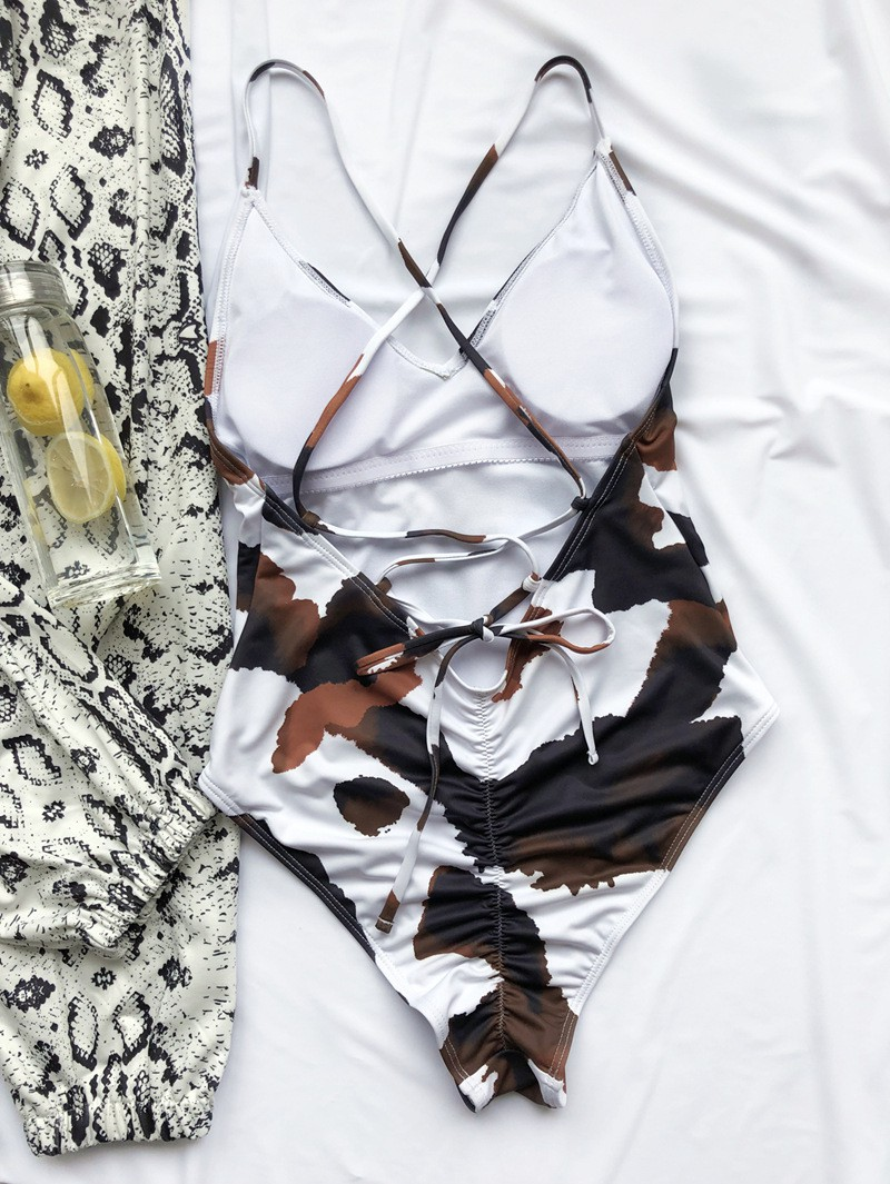 Mặc gì đẹp: Tắm biển vui với Đồ Tắm Một Mảnh In Họa Tiết Quyến Rũ Dành Cho Nữ