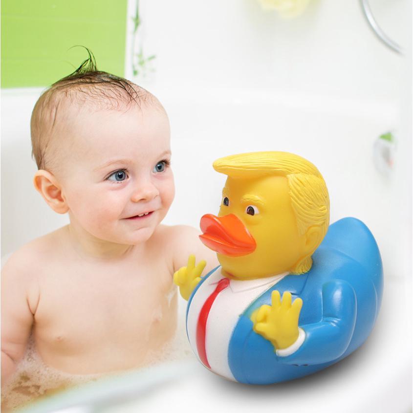 PVC Trump Duck Baby Bath Cute Funny Toys Baby Bath Toys Floating Duck Xmas Gift