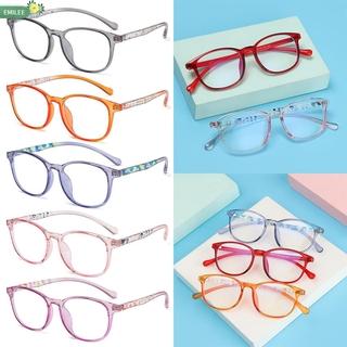 EMILEE💋 Children Boys Girls Comfortable Eyeglasses TR90 Anti-blue Light Kids Glasses Portable Online Classes Fashion Computer Eye Protection Ultra Light Frame/Multicolor