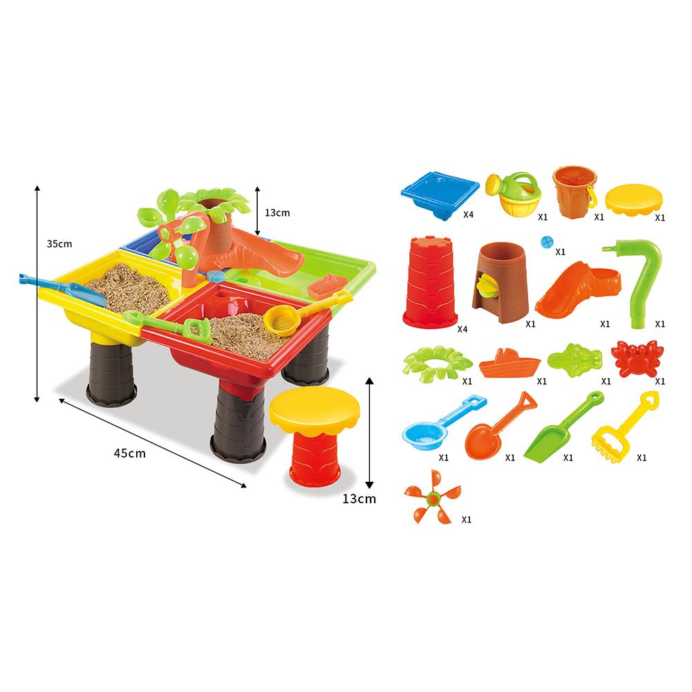 Outdoor Sandglass Play Kids Summer Water Seaside Bucket Digging Pit Sand Table Beach Toy Set