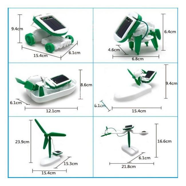 [Giá shock]Bộ đồ chơi lắp ghép năng lượng mặt trời 6 in 1 (253)