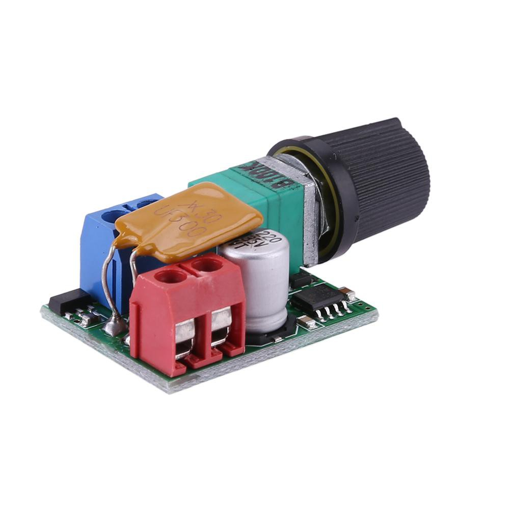 Mini DC Motor PWM Governor 5A 3V-35V Speed Switch Small LED Dim Module
