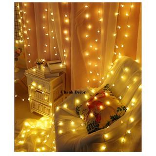 (Bán Buôn) Đ2 Dây đèn bóng tròn nhỏ trắng ấm 6m-10m trang trí góc học tập, phòng ngủ, ban công, quán trà sữa
