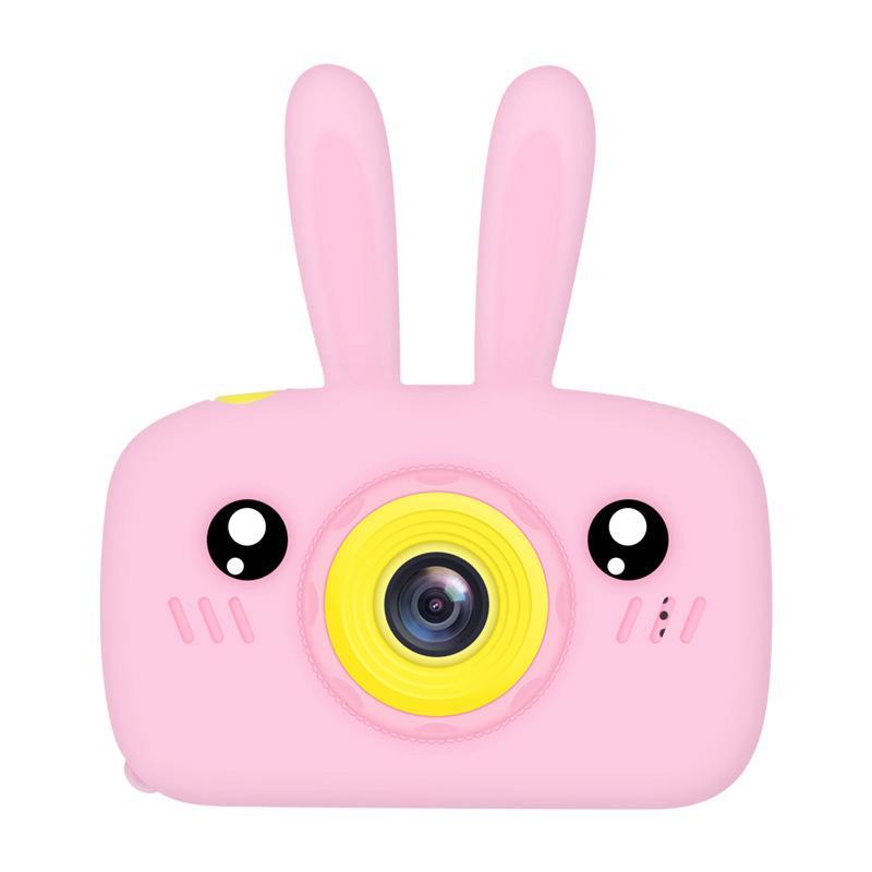 Máy chụp hình 2 Inch màn hình HD kỹ thuật số mini họa tiết xinh xắn cho bé