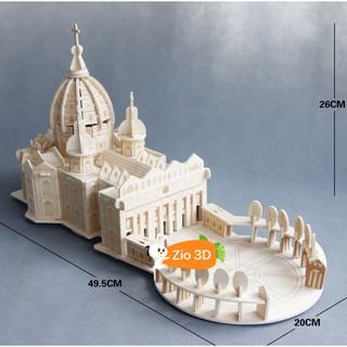 Đồ chơi lắp ráp gỗ 3D Mô hình Thánh đường Thánh Phêrô