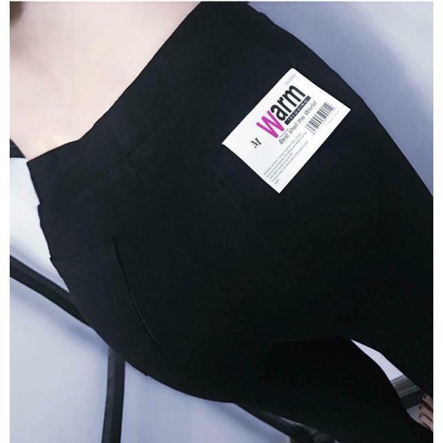 Quần legging WARM nữ xuất nhật chuẩn loại 1 túi zip