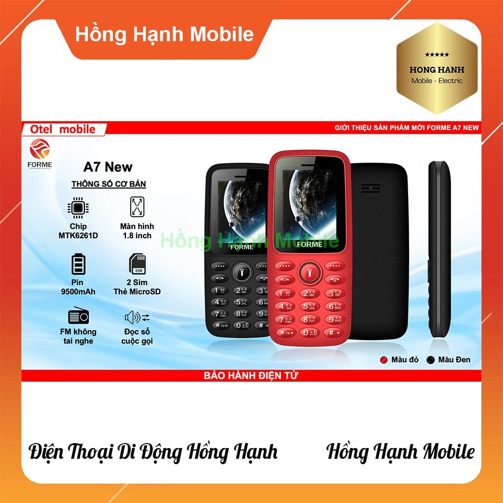 Điện Thoại Forme A7 - Hàng Chính Hãng - Hồng Hạnh Mobile