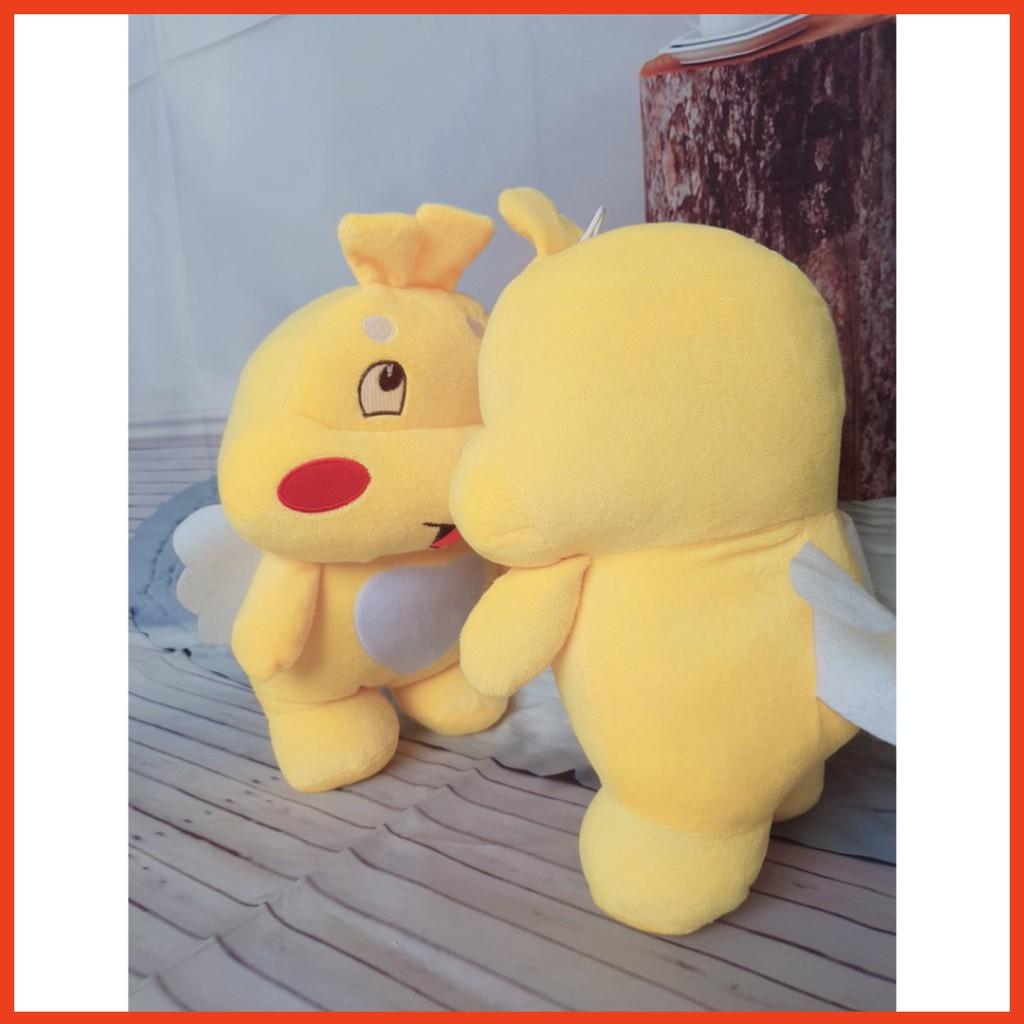 Gối Ôm Khủng Long Ong Vàng - Gấu Bông Qoobee Mềm Mịn Siêu Đáng Yêu Cho Bé Kích Thước 35cm